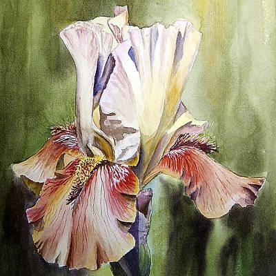 Silk Painting - Iris Painting by Irina Sztukowski