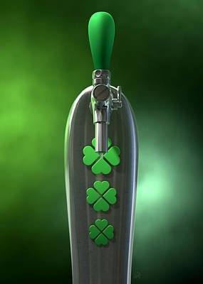 Party Digital Art - Irish Beer Tap by Allan Swart
