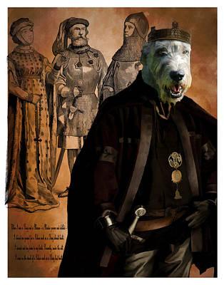 Painting - Irish Wolfhound Art Canvas Print by Sandra Sij