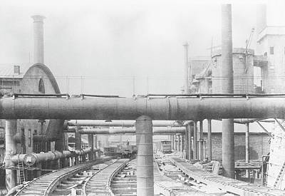 Lehigh Photograph - Iron Works by Hagley Museum And Archive