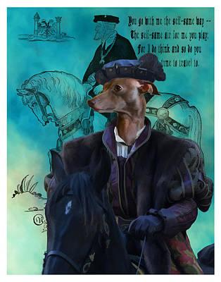 Painting - Italian Greyhound Art Canvas Print by Sandra Sij