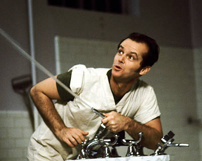 Photograph - Jack Nicholson In One Flew Over The Cuckoo's Nest  by Silver Screen