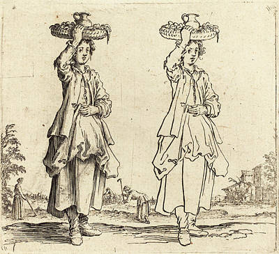 Jacques Callot French, 1592 - 1635, Peasant Woman Art Print by Quint Lox