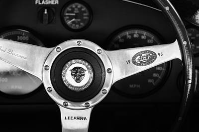 Photograph - Jaguar Steering Wheel Emblem by Jill Reger