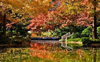 Print featuring the photograph Japanese Gardens by Ricardo J Ruiz de Porras