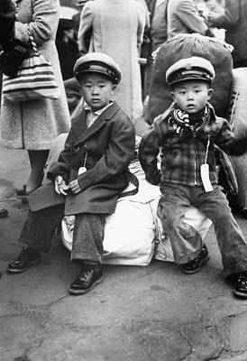 Anti Immigrant Photograph - Japanese Internment, 1942 by Granger