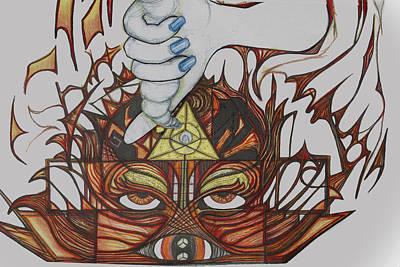 Vishuddha Drawing - 3 by Jessica McLellan