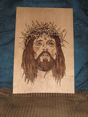 Pyrography On Wood Pyrography - Jesus' Crucifixion by N Gardner