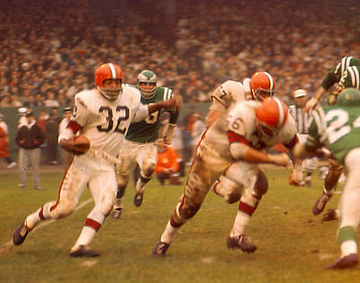 Jim Brown Art Print by Retro Images Archive