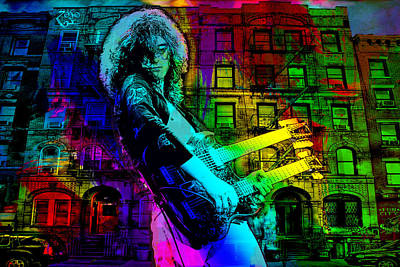 Jimmy Page Digital Art - Jimmy Page by Dancin Artworks