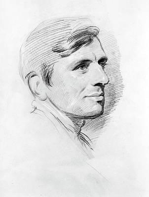 Cardinal Drawing - John Henry Newman (1801-1890) by Granger