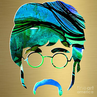 Lennon Mixed Media - John Lennon Gold Series by Marvin Blaine