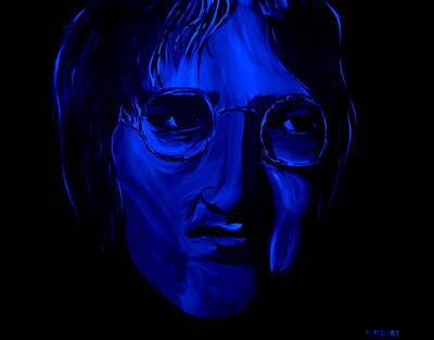 Stormy Painting - John Lennon  by Mark Moore
