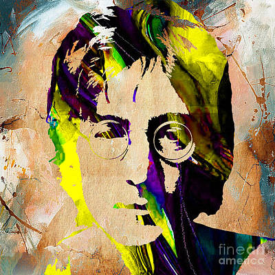 Lennon Mixed Media - John Lennon Painting by Marvin Blaine