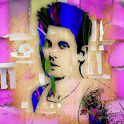 Wall Mixed Media - John Mayer Collection by Marvin Blaine