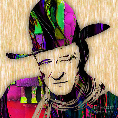 John Wayne Collection Art Print by Marvin Blaine
