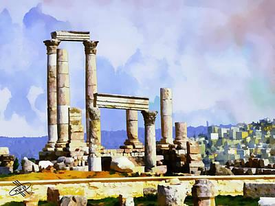 Jordan/amman/citadel Art Print by Fayez Alshrouf
