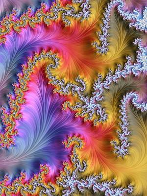Fractal Geometry Photograph - Julia Fractal by Alfred Pasieka