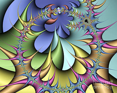 Iteration Photograph - Julia Fractal by Victor Habbick Visions