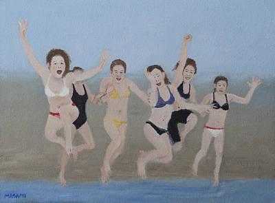 Painting - Jump by Masami Iida