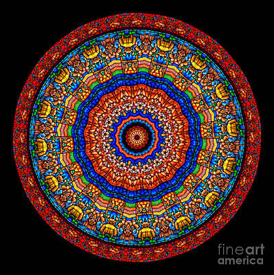 Fractal Photograph - Kaleidoscope Stained Glass Window Series by Amy Cicconi