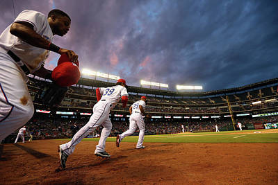 Photograph - Kansas City Royals V Texas Rangers by Ronald Martinez
