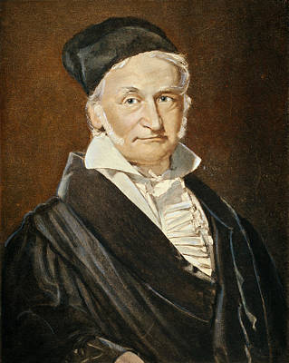 Astronomers Painting - Karl Friedrich Gauss (1777-1855) by Granger