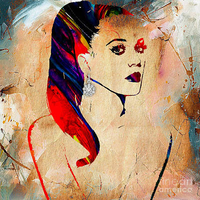 Music Mixed Media - Katy Perry Collection by Marvin Blaine