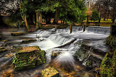 Dam Photograph - Kearsney Abbey by Ian Hufton