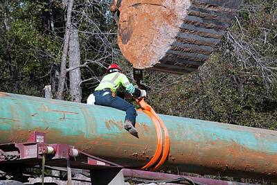 Xl Photograph - Keystone Xl Pipeline Construction by Jim West
