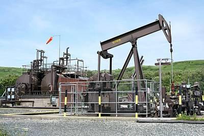 Oil Pumps Photograph - Kimmeridge Oil Field by Martin Bond