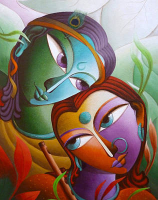 Mahabharata Painting - Krishna At Sixteen by Dhananjay Mukherjee