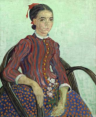 Woman In Rocking Chair Painting - La Mousme by Vincent van Gogh