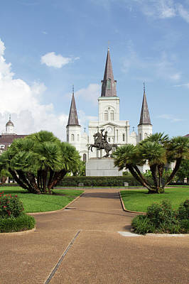 St Louis Square Photograph - La, New Orleans, French Quarter by Jamie and Judy Wild
