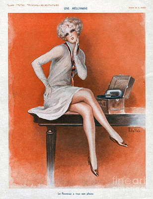 Drawing - La Vie Parisienne  1920s France Cc by The Advertising Archives