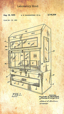 Drawing - Laboratory Hood Patent 1955 by Mountain Dreams
