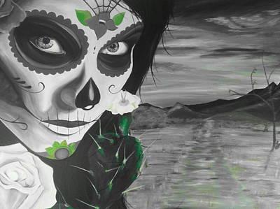 Hispanic Drawing - Lady Ligeia by Richard James