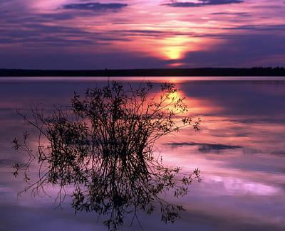 Violet Photograph - Lake Peno by Anonymous
