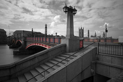 Abstract Skyline Rights Managed Images - Lambeth Bridge Thames London Royalty-Free Image by David French