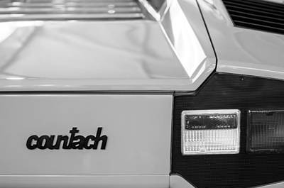 Photograph - Lamborghini Countach Taillight Emblem by Jill Reger