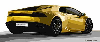 Lamborghini Huracan Art Print by Sir Josef - Social Critic -  Maha Art