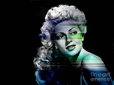 Movies Mixed Media - Lana Turner by Marvin Blaine