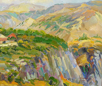 Painting - Landscape Of Mountains And Gorge Near Garni Armenia by Meruzhan Khachatryan