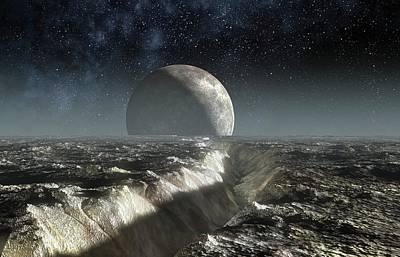 Landscape Of Pluto Art Print by Take 27 Ltd