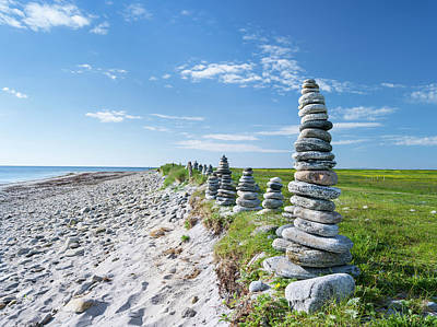 Landscape On The Island Of South Uist Art Print by Martin Zwick
