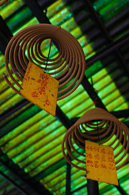 Repetition Photograph - Large Incense Coils Hanging In Pak Sing by Panoramic Images