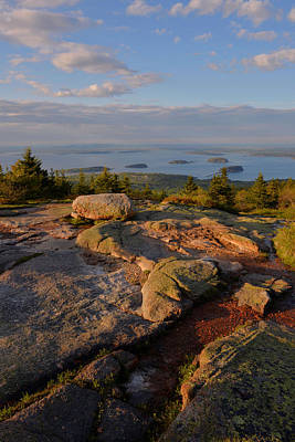 Down East Maine Photograph - Late Day Light - Cadillac Mountain by Stephen  Vecchiotti