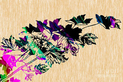 Leaves Painting Art Print
