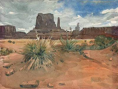 Monument Valley Painting - Left Mitten by Donald Maier