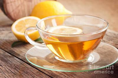 Lemon Fruit Tea Art Print
